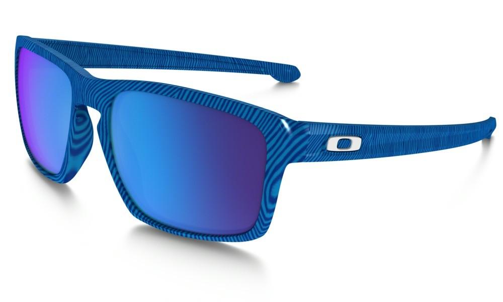 Oakley Sliver Fingerprint Sky Blue Sapphire Iridium