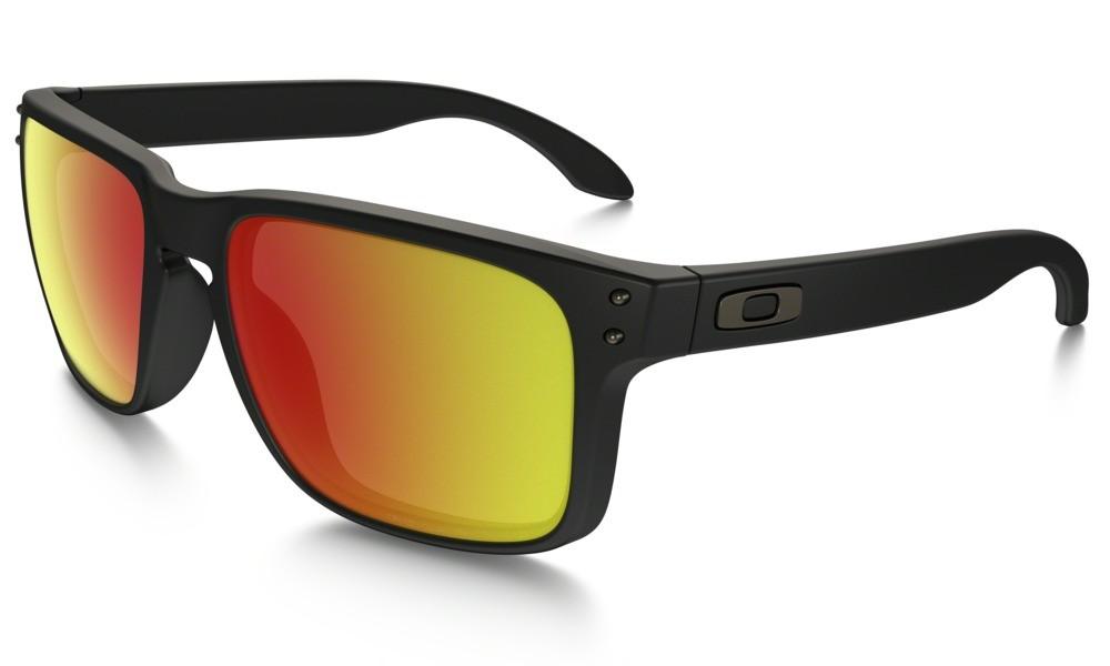 Sluneční brýle Oakley Holbrook Matte Black Ruby Iridium Polarized
