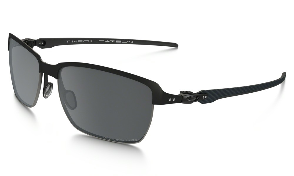 Oakley Tinfoil Carbon Satin Black / Steel Black Iridium Polarized