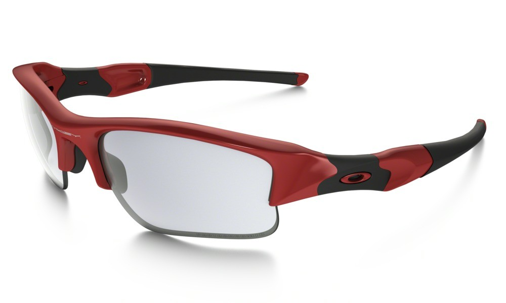 Oakley Flak Jacket XLJ Infrared Clear to Black Transitions