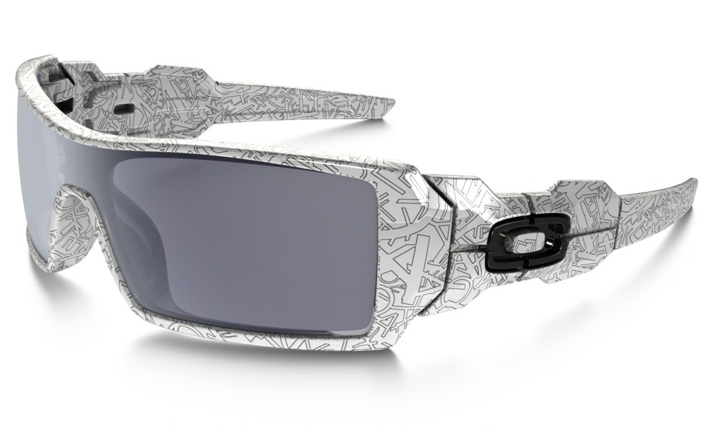 Oakley Oil Rig White With Text / Grey