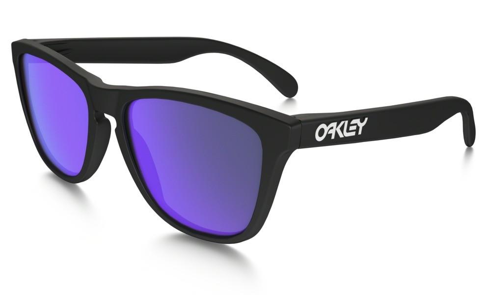 Oakley Frogskin Matte Black Violet Iridium