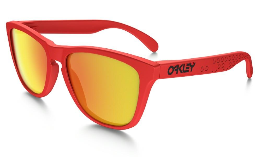 Oakley Frogskin Matte Red Fire Iridium