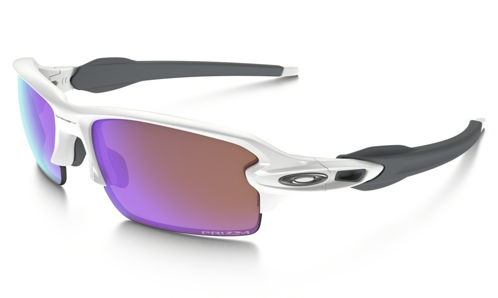 Oakley Flak 2.0 Polished White Prizm Golf
