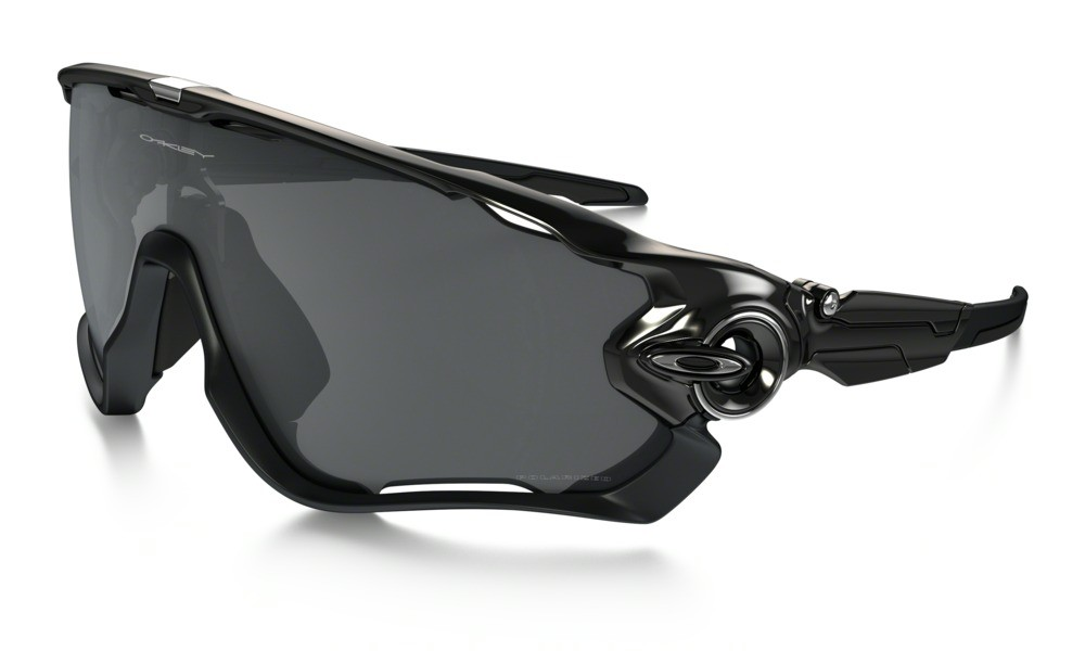 Oakley Jawbreaker Polished Black Black Iridium Polarized