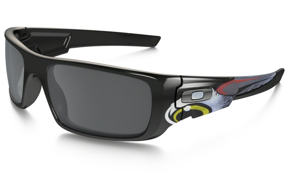 Oakley Crankshaft Polished Black Black Iridium Troy Lee