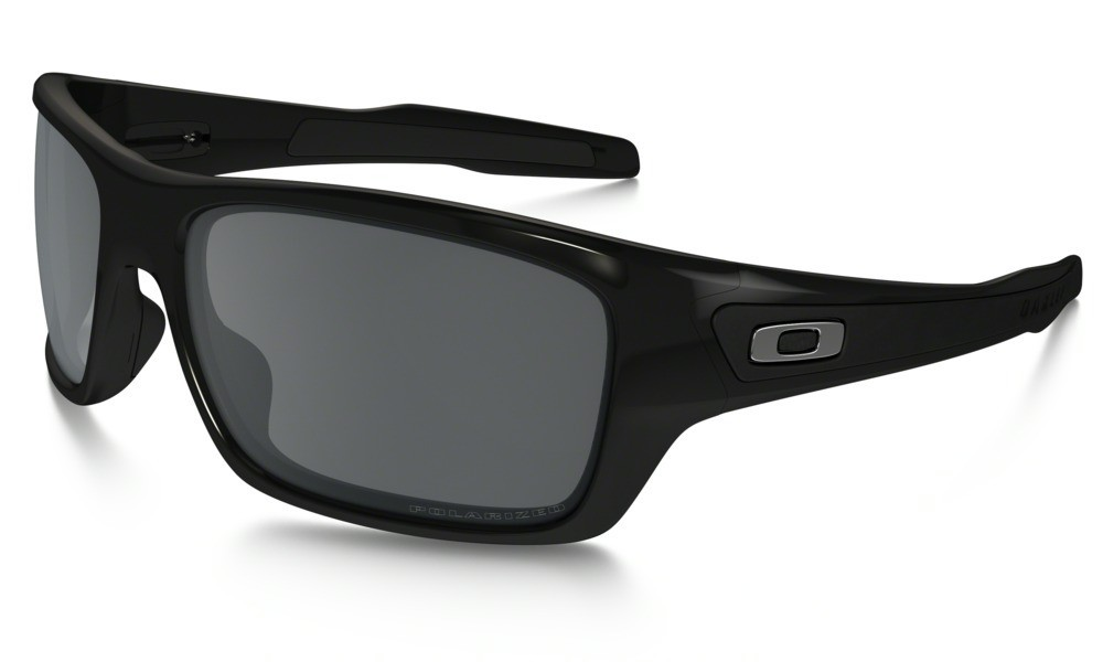 Oakley Turbine Polished Black Black Iridium Polarized