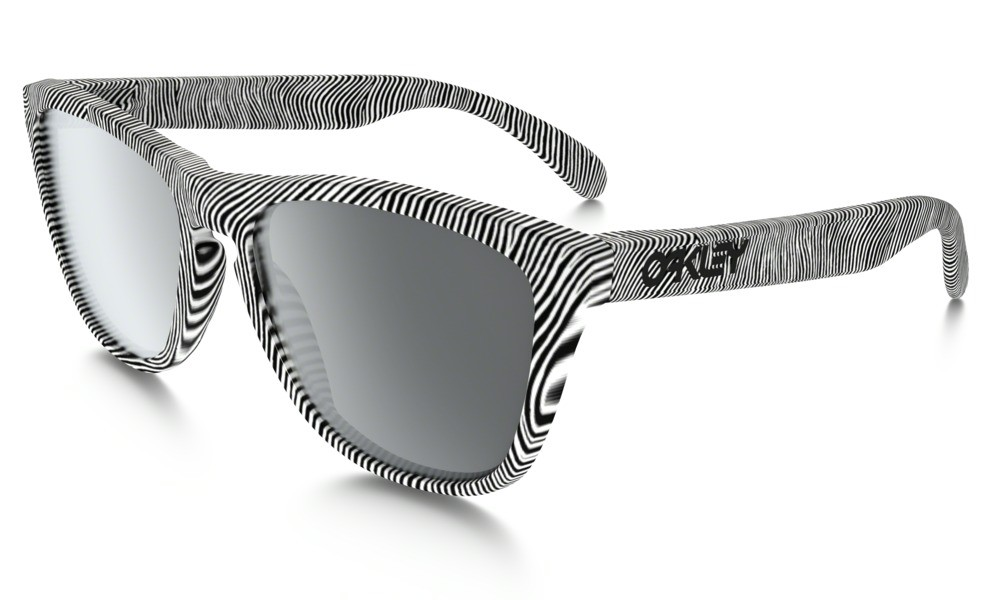 Oakley Frogskin Fingerprint Polished White Black Iridium