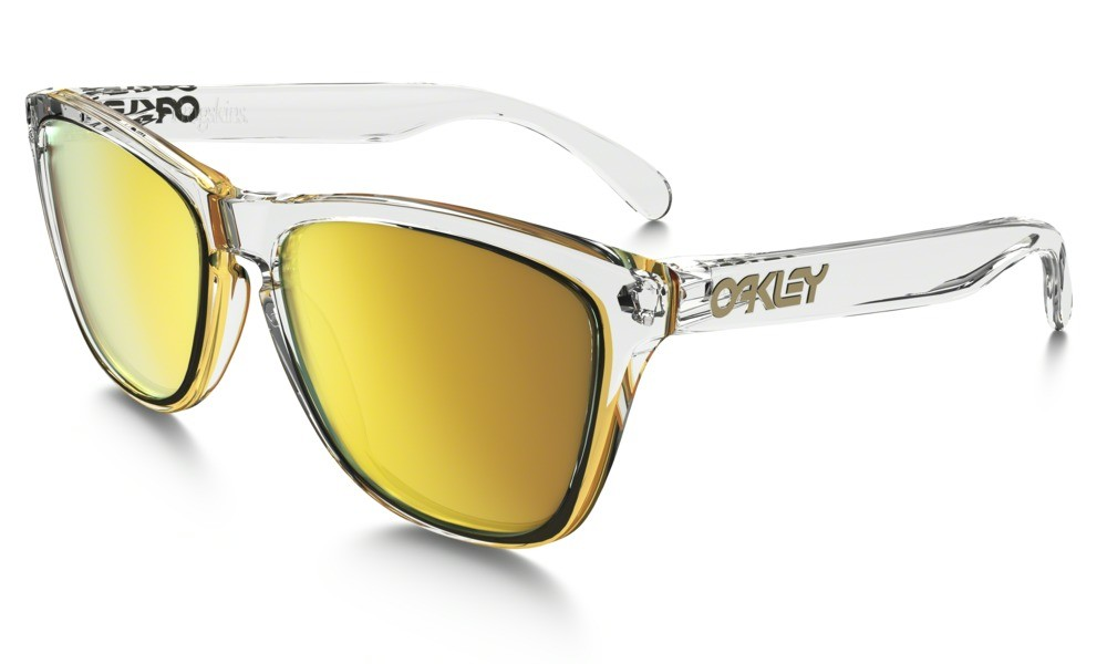 Oakley Frogskin Crystal Clear 24K Iridium